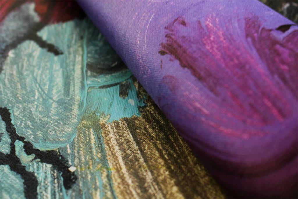 Foto drobės spalvingumas