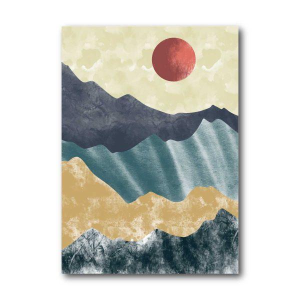 Saulėlydis tarp kalnų