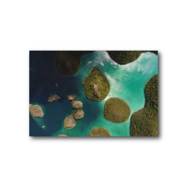 Foto ant drobės Gamta iš viršaus