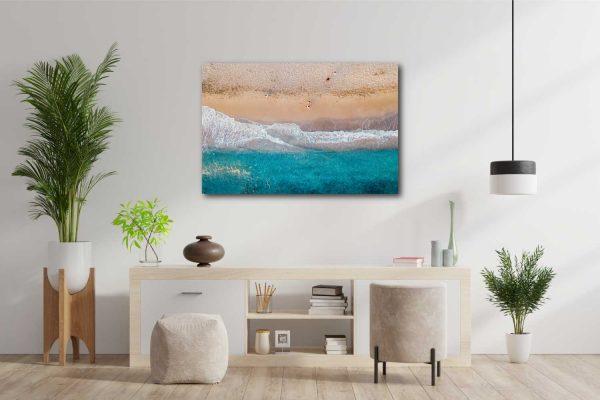 Fotodrobė Paplūdimys iš viršaus