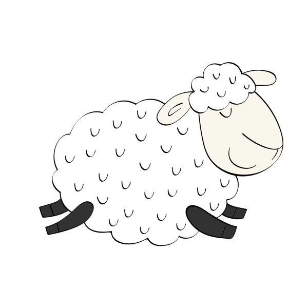 Sienų lipdukas Spalvota avis