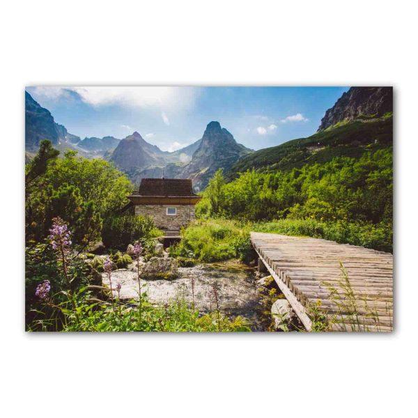 Foto drobė Tarp kalnų