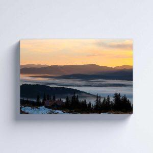 Foto drobė Žiemos slėnis