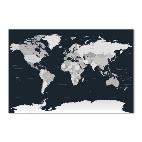žemėlapis ant drobės - tamsus