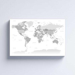 Žemėlapis ant dribės - šviesus